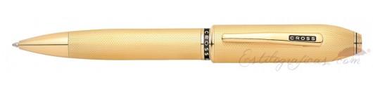 Bolígrafo Cross Peerless 125 Laminado Oro 23 K