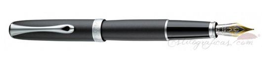 Estilográfica Diplomat Excellence A2 Lapis Black Matt Chrome 14 K