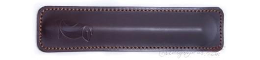 Funda pluma estilográfica Captain Scott piel chocolate
