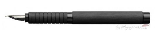 Estilográfica Faber-Castell Essentio Aluminio Negro