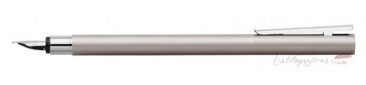 Estilográfica Faber-Castell Neo Slim Acero Satinado