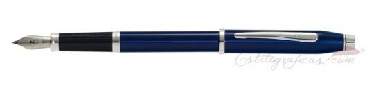 Estilográfica Cross Century II Laca Azul Translúcido