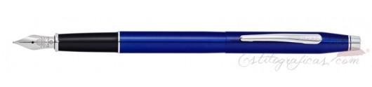 Estilográfica Cross Classic Century Laca Azul Translúcida