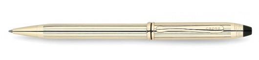 Bolígrafo Cross Townsend Laminado en Oro