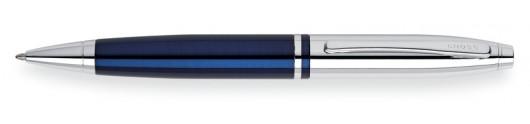 Bolígrafo Cross Calais Laca Azul y Cromo