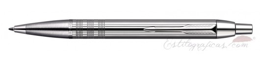 Bolígrafo Parker IM Premium Chiselled Cromado