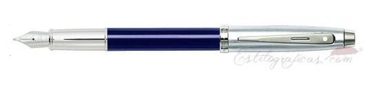 Pluma Estilográfica Sheaffer Gift 100 Azul y Cromo
