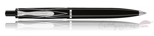 Bolígrafo Pelikan Classic K 215 Negro con Rombos