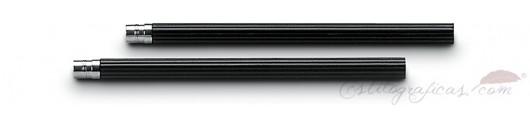 5 lápices cortos de cedro negro