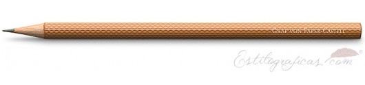 6 lápices Guilloche marrón