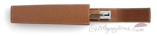 Funda de piel GVFC edición especial marrón