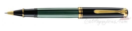 Bolígrafo Pelikan Souverän K 800 Verde y Negro