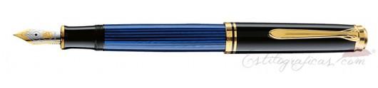 Estilográfica Pelikan Souverän M 600 Negro y Azul