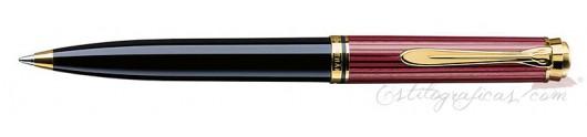 Bolígrafo Pelikan Souverän K 600 Rojo y Negro