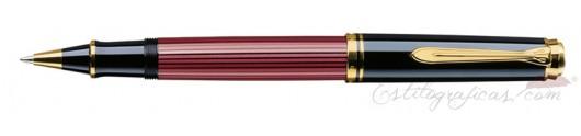 Rollerball Pelikan Souverän R 600 Rojo y Negro
