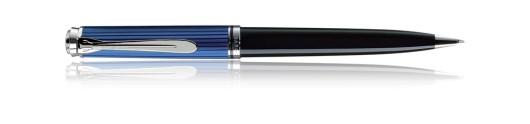 Bolígrafo Pelikan Souverän K 805 Negro, Azul y Plata - Mecanismo de giro