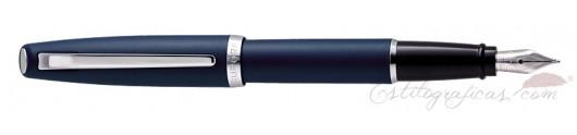 Estilográfica Aurora Style resina mate azul CT
