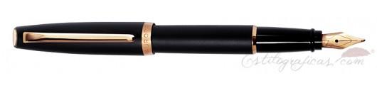 Estilográfica Aurora Style resina mate negro GT