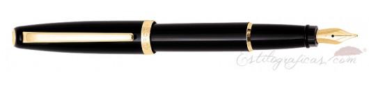 Estilográfica Aurora Style resina negra GT