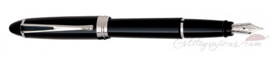 Estilográfica Aurora Ipsilon De Luxe Negra Cromo