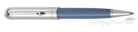 Bolígrafo Aurora Talentum Azul Cromado