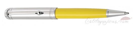 Bolígrafo Aurora Talentum Amarillo Cromado
