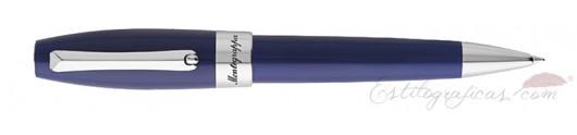 Bolígrafo Montegrappa Fortuna Azul Paladio
