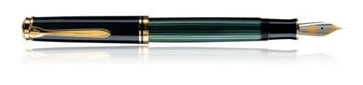 Estilográfica Pelikan Souverän M 800 Negro y Verde