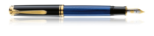 Estilográfica Pelikan Souverän M 800 Negro y Azul