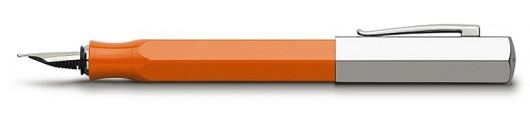 Estilográfica Faber-Castell Ondoro Resina Naranja