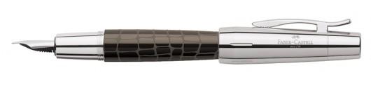 Estilográfica Faber-Castell E-motion Croco Marrón