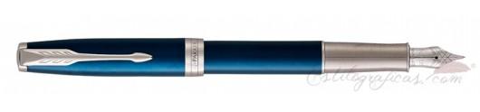 Estilográfica Parker Sonnet Azul CT 18 K