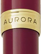 Detalle del anillo central dorado del bolígrafo burdeos