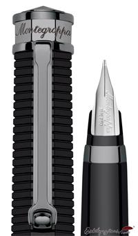 Detalle de plumín y capuchón de estilográfica NeroUno Linea