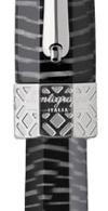 Detalle de anillo y patrón de la estilográfica Extra Otto Cebra