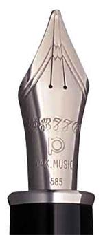 Plumín Music de Platinum de doble abertura de oro rodiado