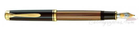 Estilográfica Pelikan Souverän M800 Brown-Black