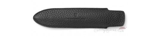 Funda corta de piel Graf von Faber-Castell color negro