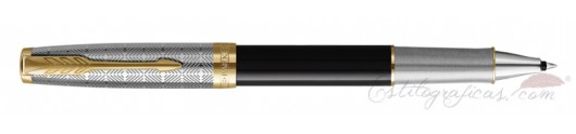 Rollerball Parker Sonnet Metal and Black Lacquer