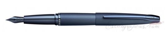 Estilográfica Cross ATX Azul Oscuro Arenado