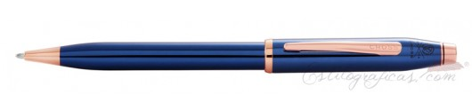 Bolígrafo Cross Century II Azul Cobalto y Oro Rosa