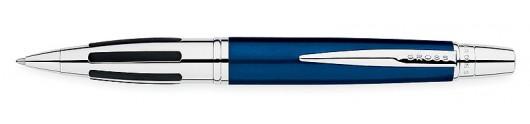 Bolígrafo Cross Contour Azul y Cromo