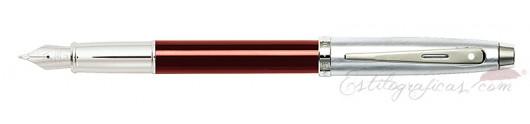 Pluma Estilográfica Sheaffer Gift 100 Rojo y Cromo