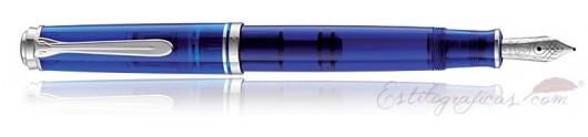 Estilográfica Pelikan Souverän M605 Azul Marino Transparente