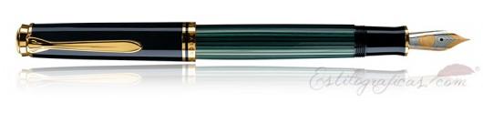 Estilográfica Pelikan Souverän M 400 Negro y Verde