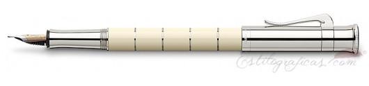 Estilográfica Graf von Faber-Castell Clásica Anello Marfil