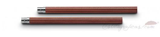 5 lápices cortos de cedro marrón