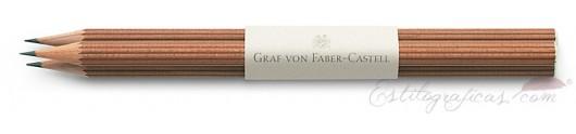 3 lápices largos de cedro marrón GvFC