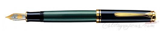 Estilográfica Pelikan Souverän M 600 Negro y Verde