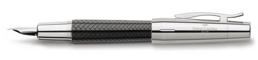 Estilográfica Faber-Castell E-motion Trenzado Negro